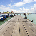 Boat Dock On Jetty In Penang by Jit Lim