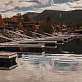 Boat Docks On Grand Lake by Lee Kirchhevel