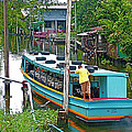 Boat For Transportation On Canals In Bangkok-thailand by Ruth Hager