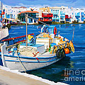 Boat In Greece by Tim Gilliland