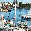 Boat - King's Wharf Bermuda by Susan Savad