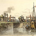 Boat Lock In China, 1800s by British Library