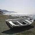 Boat On Alyki Beach by Katerina Kostaki