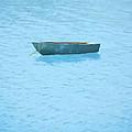 Boat On Blue Lake by Pixel Chimp