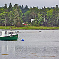 Boat On Cove In Glen Margaret-ns  by Ruth Hager