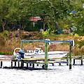 Boat On Dock by Jeelan Clark