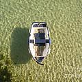 Boat On Ocean by Pixel Chimp
