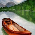 Boat On The Lake by Carole Mitchell