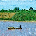 Boat Painting by George Fedin and Magomed Magomedagaev