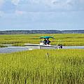 Boat Ride In The Marsh by Cynthia Guinn