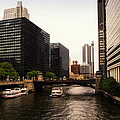 Boat Ride On The Chicago River by Thomas Woolworth