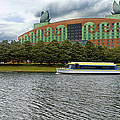 Boat Ride Past The Swan Resort Walt Disney World by Thomas Woolworth