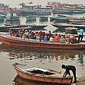 The Journey - Varanasi India by Kim Bemis