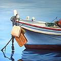 Boat Saida - Zaher Bizri Lebanes Artist - Art In Lebanon by Zaher Bizri
