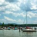 Boat - Sailboat At Dock Cold Springs Ny by Susan Savad
