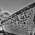Boat - State Of Decay In Black And White by Paul Ward