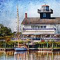 Boat - Tuckerton Seaport - Tuckerton Lighthouse by Mike Savad