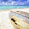 Boat Wreck Of Aruba by David Letts