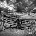 Boat Wreckage Bw by Michael Ver Sprill