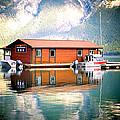 Boathouse Lake Minnewanka Ab Canada by Laura Strain