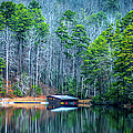 Boathouse On Pinnacle Lake by Optical Playground By MP Ray