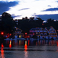 Boathouse Row Along The Schuylkill River At Dawn by Bill Cannon