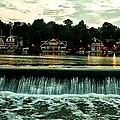 Boathouse Row And Fairmount Dam by Bill Cannon