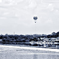 Boathouse Row And The Zoo Balloon by Bill Cannon