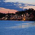 Boathouse Row Dusk by Jennifer Ancker