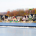 Boathouse Row In Autumn by Bill Cannon