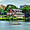 Boathouse Rowers On The Row by Alice Gipson