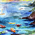 Boating In Italy Watercolor  by Ginette Callaway