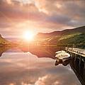 Boating Lake Sunrise by Matthew Gibson