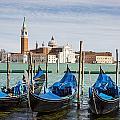 Boats Anchored At Marina Venice, Italy by Richard Desmarais