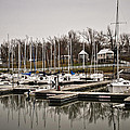 Boats And Cottages On Overcast Day by Greg Jackson