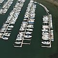 Boats And Docks At Cap Sante Marina by Andrew Buchanan/SLP