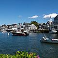 Boats At A Harbor, Nantucket by Panoramic Images