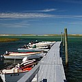 Boats At Bass Hole  by Mark Wiley