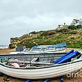 Boats At Burton Bradstock by Susie Peek