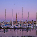 Boats At Dusk 1 by Donna Doherty