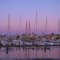Boats At Dusk 2 by Donna Doherty