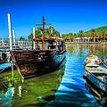 Boats At Kibbutz On Sea Galilee by David Morefield