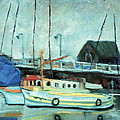 Boats At Provincetown Ma by Michael Daniels