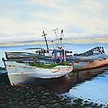 Boats At Rest by Barbara Jorgensen