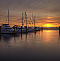 Boats At Sunset by Amy Jackson