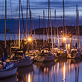 Boats At Sunset by Irene  Theriau