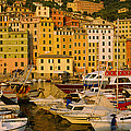 Boats At The Harbor, Camogli, Liguria by Panoramic Images