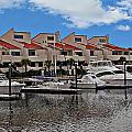 Boats Docked In Harbor by Anthony Dezenzio