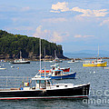 Boats In Bar Harbor by Jemmy Archer