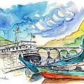 Boats In Barca De Alva 02 by Miki De Goodaboom